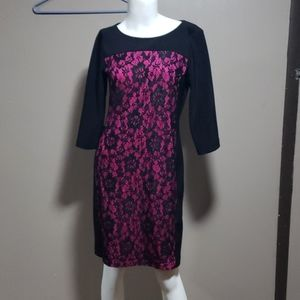 Alyx Limited Black & Pink Dress Sz 8